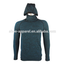 HERREN LANGARM COMPRESSION SHIRT WARM HOODIES