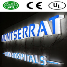 Sinais de publicidade LED de alta qualidade e letras iluminadas LED