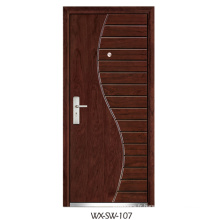Expert Supplier Steel Wooden Door (WX-SW-107)