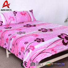 cheap 100% polyester flannel fleece custom printed bedding set