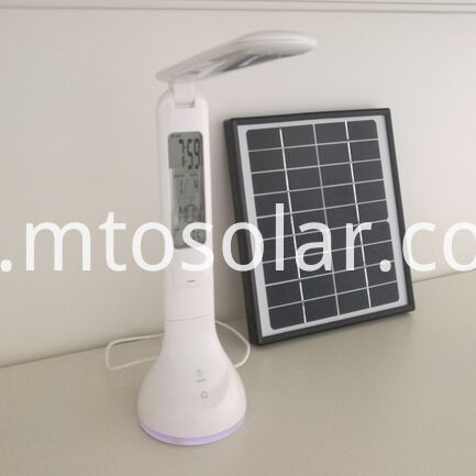 1000mah lithium solar table lamp with calendar