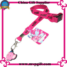 Kundenspezifische rosa Lanyard für Cartoon Events