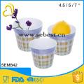 cheap high quality custom design melamine ware plastic round vase