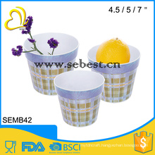 cheap high quality custom design melamine ware plastic round vase