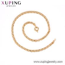 43048 xuping Mode Umwelt Kupfer Goldkette Frauen Halskette