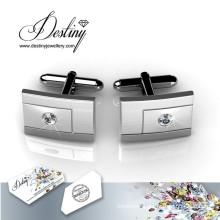 Destiny Jewellery Crystal From Swarovski Groove Cufflinks