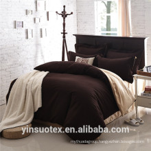 wholesale plain double sides solid color bed linen bedding set
