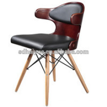 2017 high quality Good Rate Heated Brown Plywood Living Room Chair, Leisure Chair,Kitchen Chair