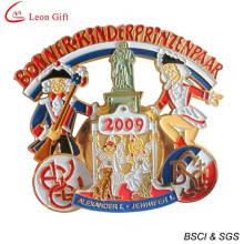 Médaillon d'or d'émail pour cadeau Souvenir (LM1253)