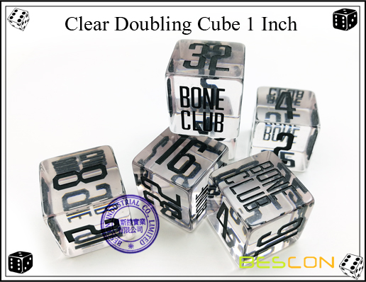 Clear Doubling Cube 1 Inch-4
