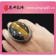Anillo de la manera de la piedra preciosa de Druzy de la joyería de la vendimia de la vendimia de China