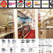 Shinelong Hot Sale fastfood Equipamento Com Rodas