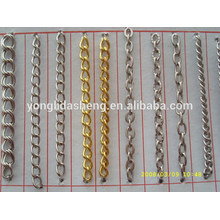 Wide gold metal plain chain metal accessories for bags