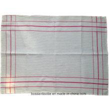 Barato personalizado de algodón blanco comprobado toalla de té mesa plato taza de tela