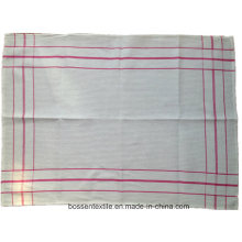 Cheap Custom Cotton White Checked Tea Towel Table Dish Cloth Cup Mat