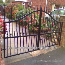 black wrought iron fencing gates