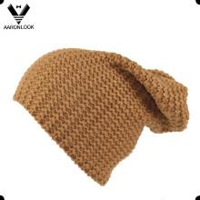 30% lã 70% acrílico homens malha chapéu longo beanie
