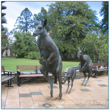 Large Garden Animal Bronze Kangaroo Sculpture