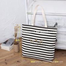 Black and white tote bag large/tote bag nonwoven imprintable