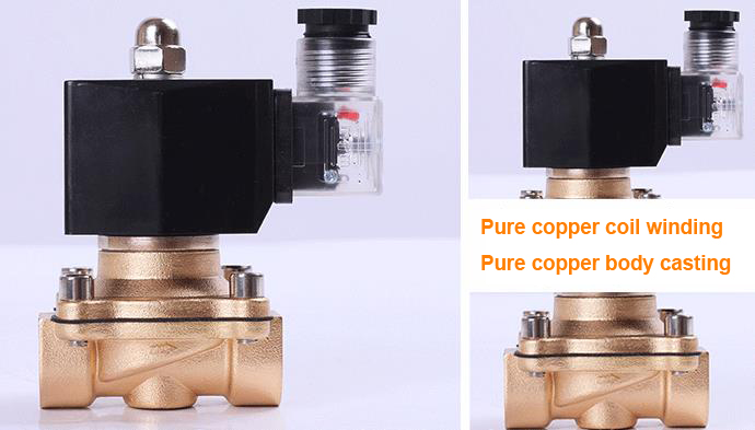 Material display of ADK11-20A NC Pilot Kick Electromagnetic Valve