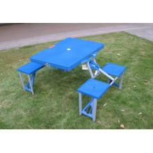 mesa de piquenique dobrável de plástico e cadeira mesa portátil para fora