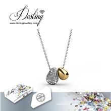 Destin bijoux cristal de Swarovski Lucky Bean pendentif & collier