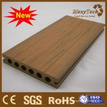2015 nuevo diseño, textura de madera del grano, suelo de WPC.