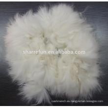 100% fibra de conejo de angora de punta depilada pura blanca 65MM