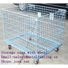 Cage de stockage avec roue