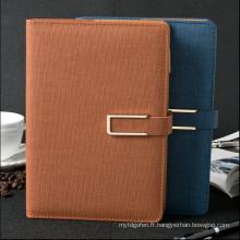 2016/2017 Cuir en cuir gaufré ou revêtements PU Daily Planner Journal et cahiers