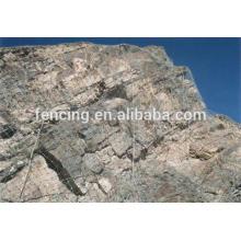 Caixa de malha de arame hexagonal ou cesta para proteção de montanha