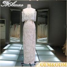 Robes de soirée designer robes de vente chaude de robes de soirée en dentelle longues robes de soirée