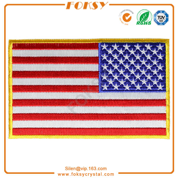 USA flag rhinestone transfer