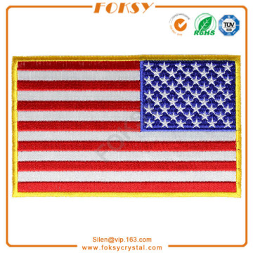 USA Flag Skull embroidered patch custom