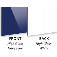 3 мм глянцевый темно-синий / глянцевый белый ACP