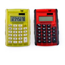 dual power personalized calculator with grip and flip