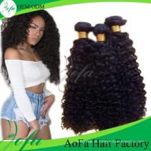 Extensão do cabelo da categoria 7A, cabelo humano brasileiro não processado do Virgin