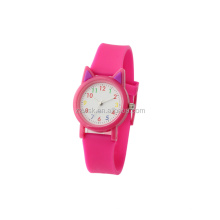Cheapest plastic watch case with silicon strap children watch