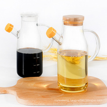 Heat-Resistant High Borosilicate Glass Oil Vinegar Pot with Cork Double-Ended Household