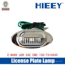 Offroad Номерной светильник Светодиодные лампы освещения номерного знака Светящаяся боковая габаритная лампа