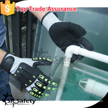SRSAFETY 13G TPR working color useful safety gloves in china,nitrile glove working glove impact glove