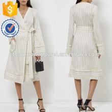 Новая мода светло синий в полоску платье Производство Оптовая продажа женской одежды (TA5249D)