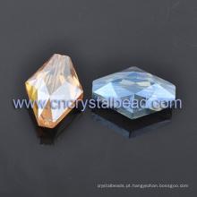 Moda Rhombus cristal grânulos lapidados