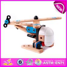 Werbe Holzspielzeug Flugzeug für Kinder, kleine Holzspielzeug Flugzeug für Kinder, lustige Kombination Modell Spielzeug für Baby W03b016
