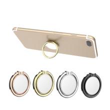 2018 Tenedor del anillo del dedo del tenedor del teléfono móvil del espejo del metal de la aduana para Iphone 8 X
