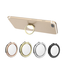 2018 Custom metal mirror mobile phone holder finger ring holder for Iphone 8 X