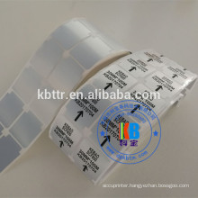 Synthetic Silver PET material adhesive polyester label stickers for barcode printer