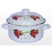 enamelware painting designs Casserole wholesale flower pot enamelware painting designs Casserole wholesale flower pot
