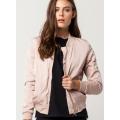 Matte Satin Womens Bomber Jacket