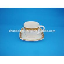 300CC турецкая фарфоровая чашка кофе с блюдцем